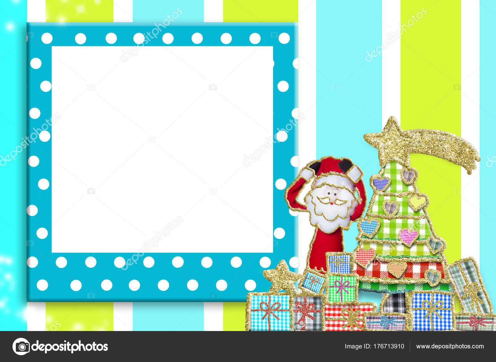 Weihnachten-Bilderrahmen für Kinder und Babys — Stockfoto © Risia ...