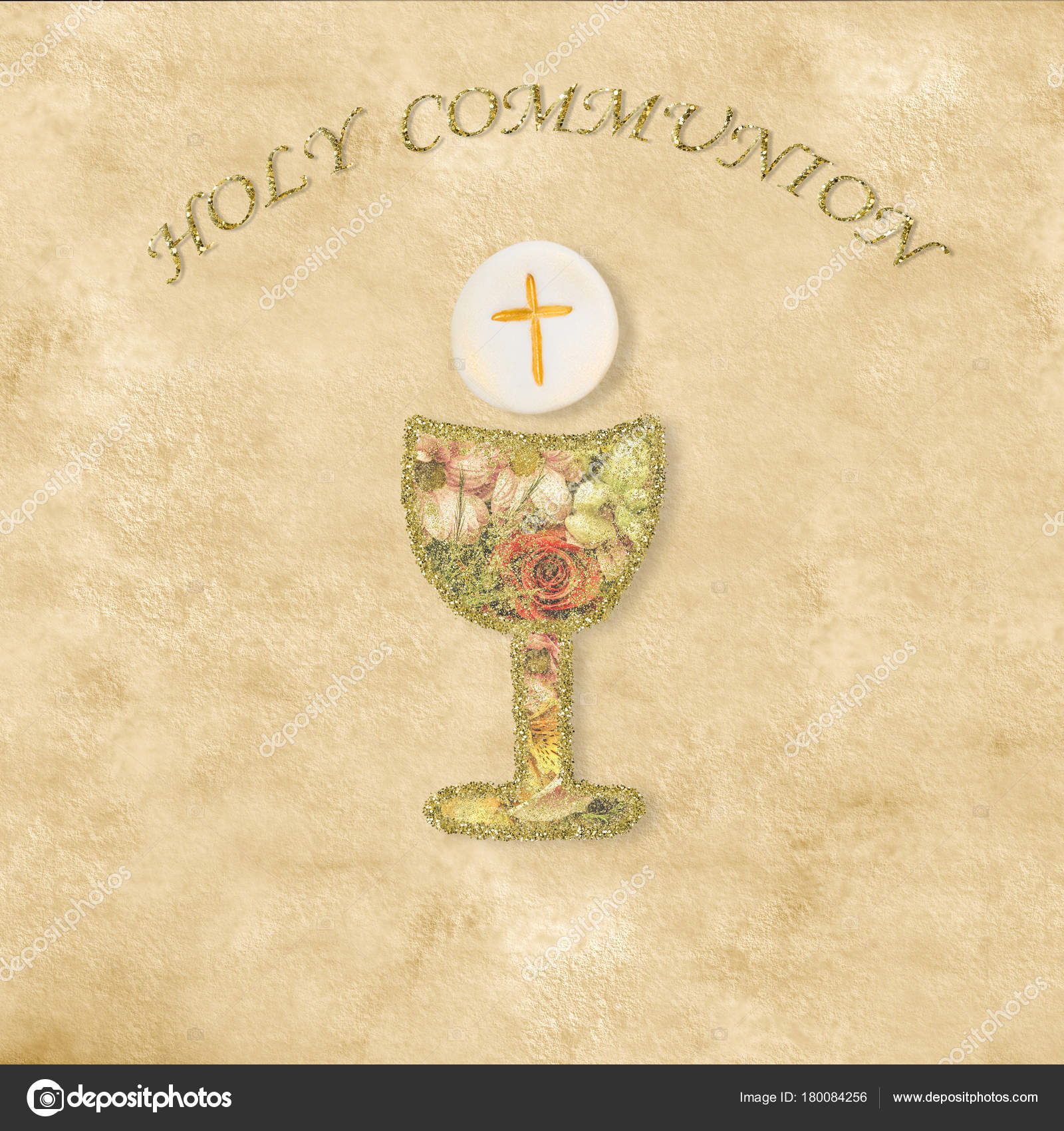 First Holy Communion invitations cards — Stock Photo