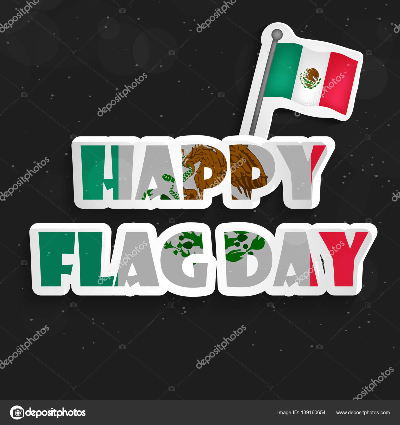 illustration of mexico flag for mexico flag day u2014 stock vector
