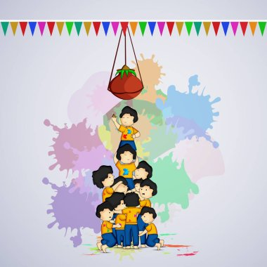 Illustration of background for Holi festival stock vector