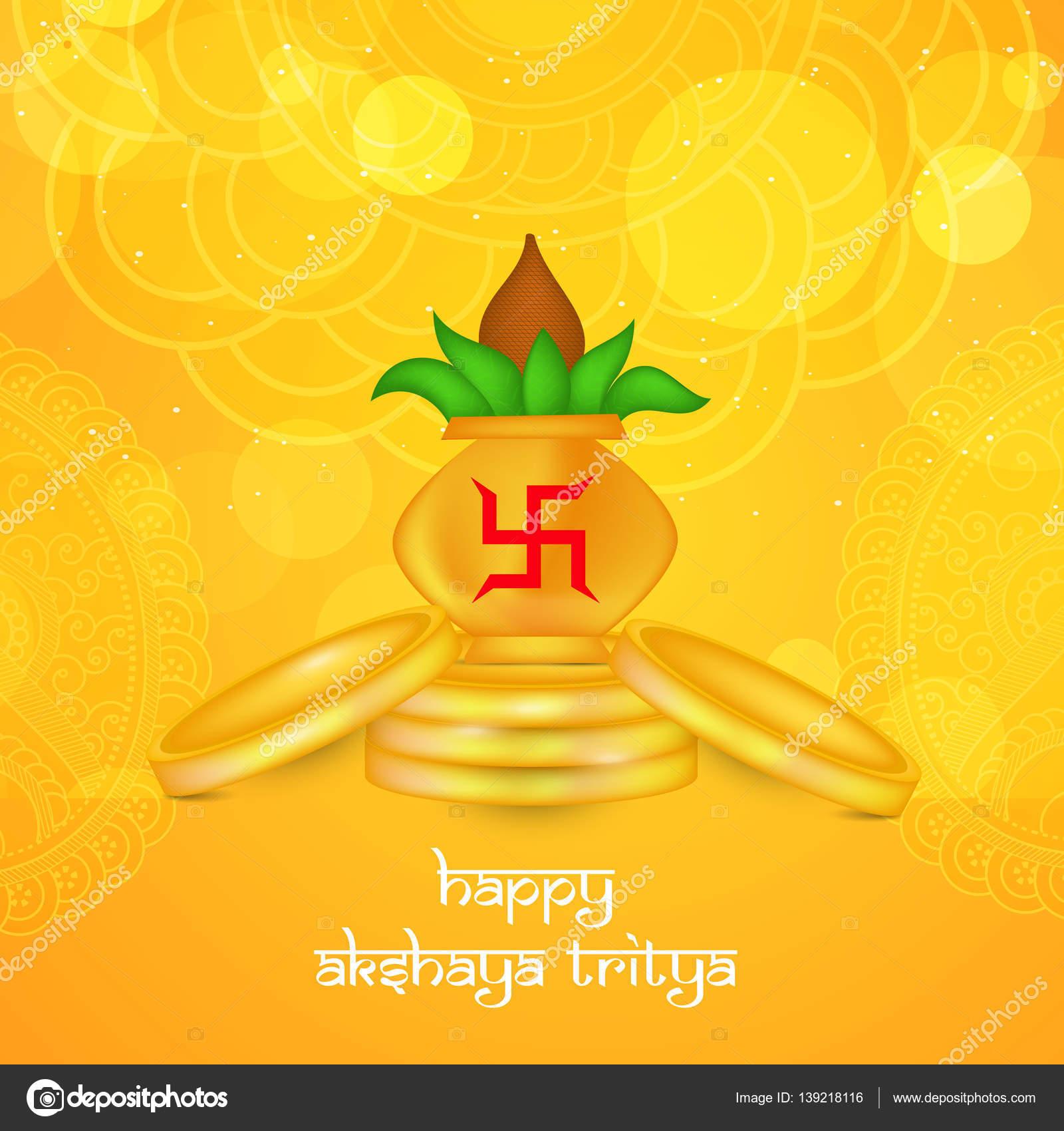 Llustration Of Elements For Akshaya Tritiya Stock Vector