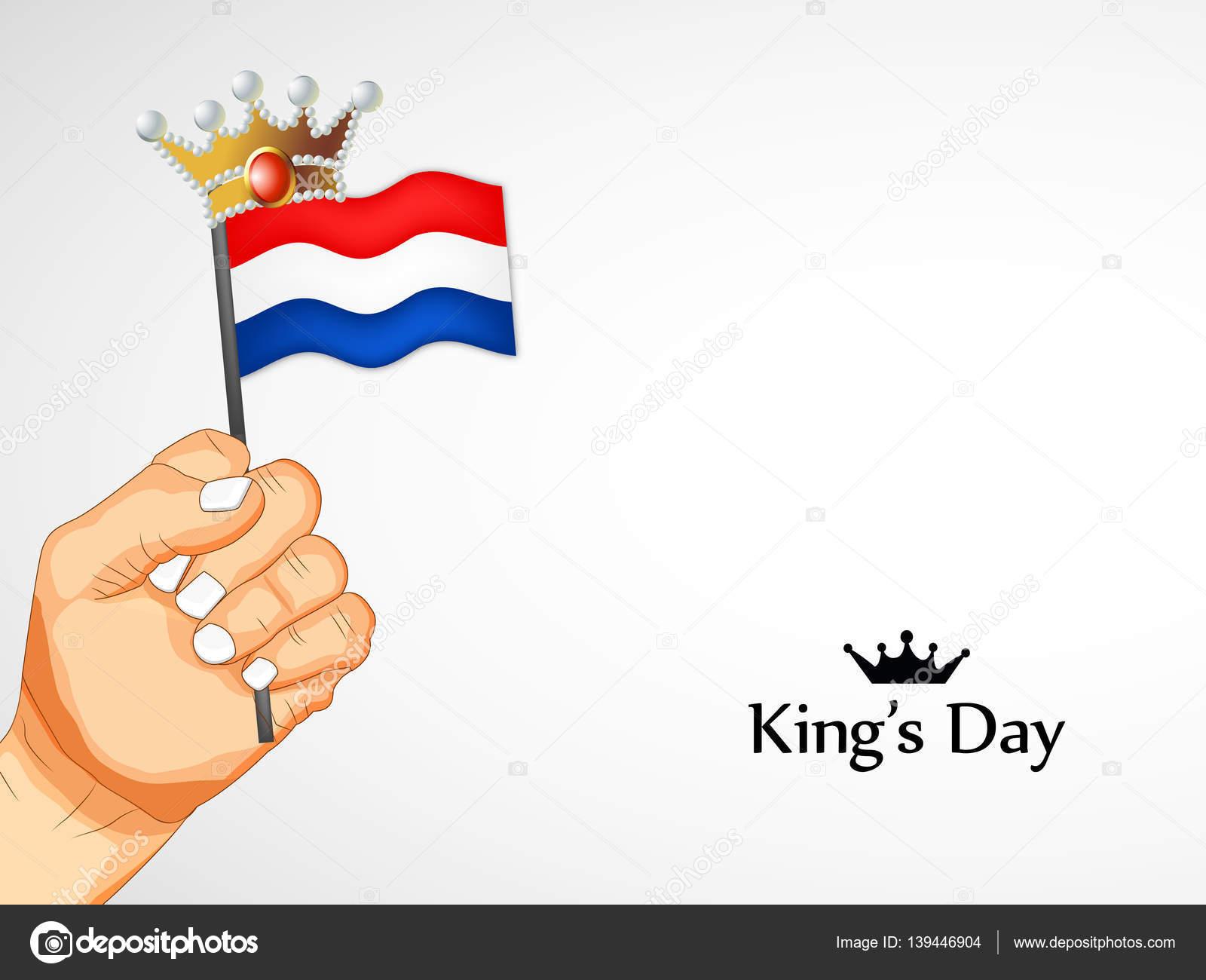 illustration of netherlands flag for kings day u2014 stock vector