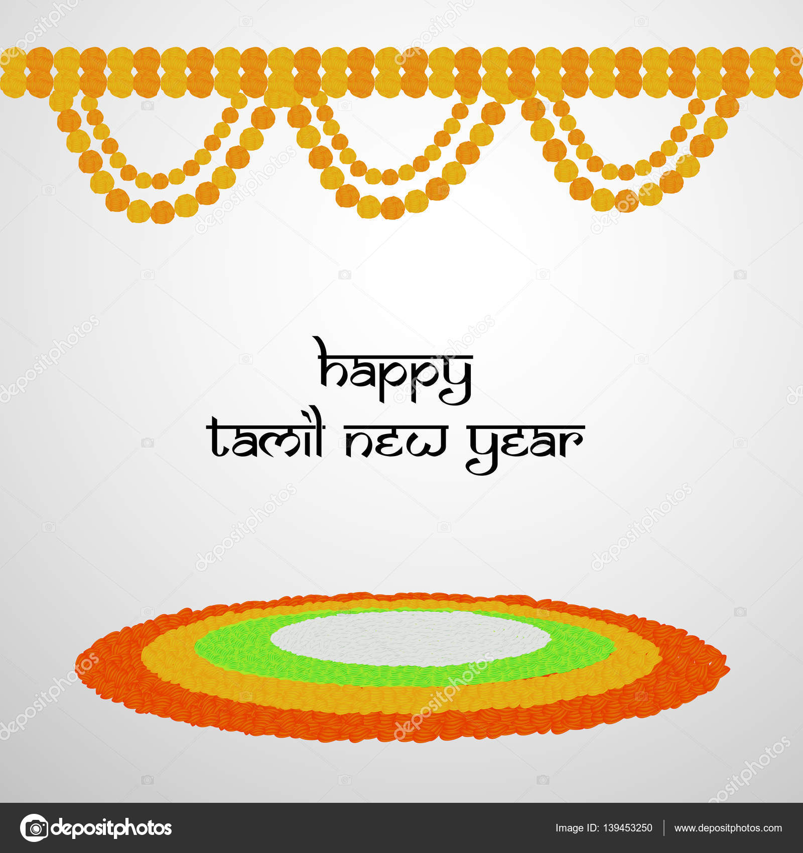 Il Ration Of Elements For Tamil New Year Vector By Infinitegraphic