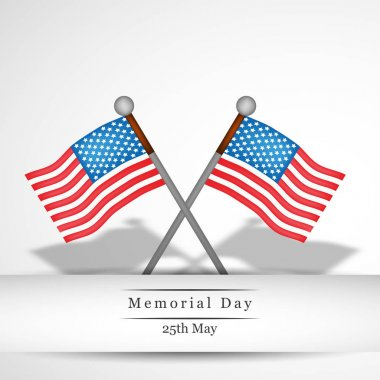 Illustration of USA Memorial Day background