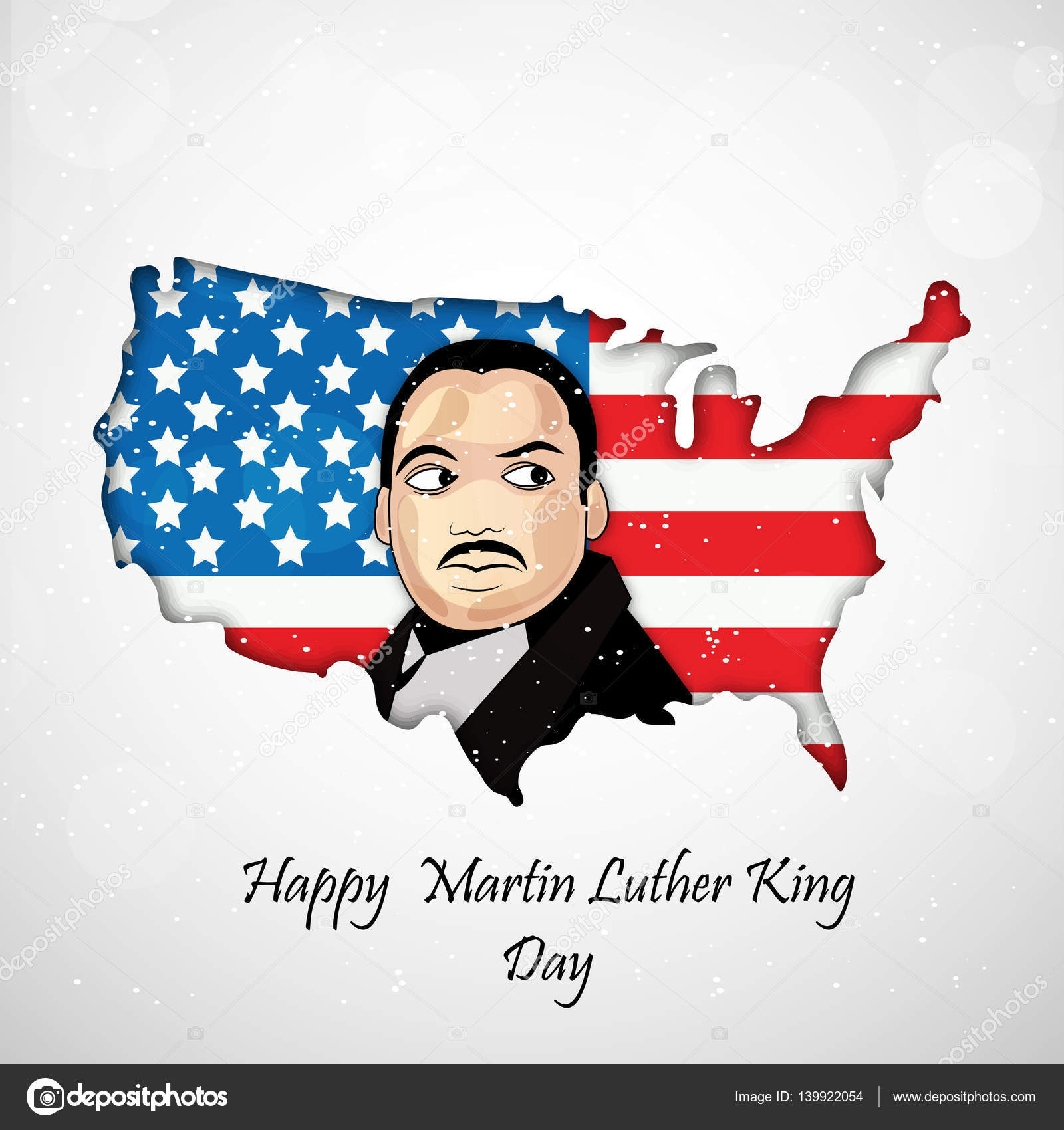 Illustration Martin Luther King Day Background Stock Vector