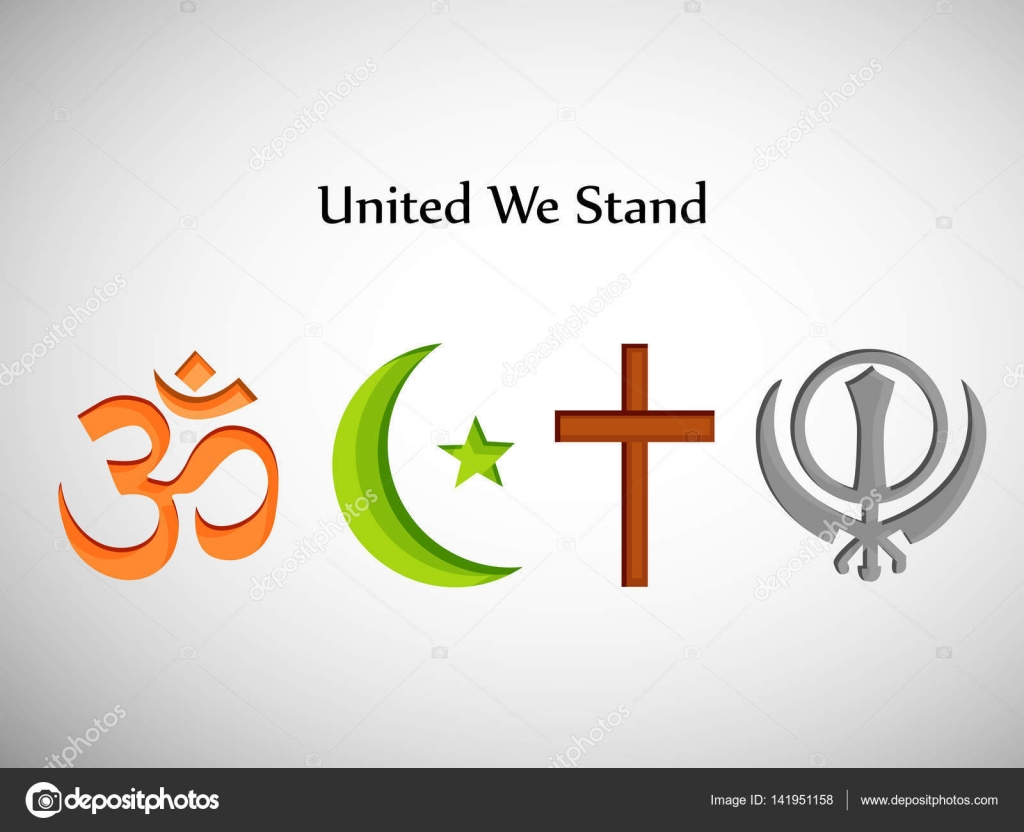 Illustration Of Different Religion And Symbol Background Stock