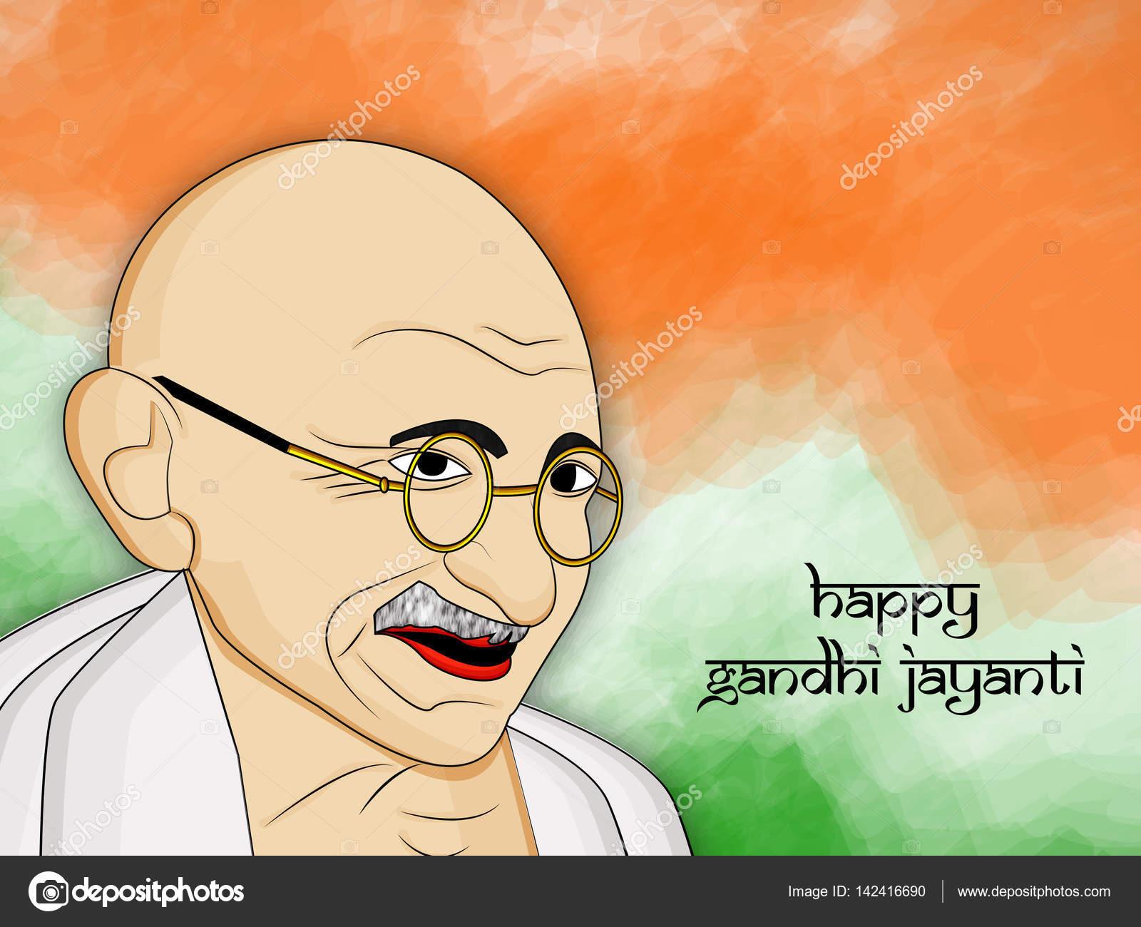ガンジー Jayanti 背景のイラスト ストックベクター Infinitegraphic