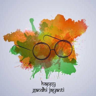 illustration of Gandhi Jayanti Background