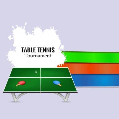 illustration of Indoor sport table tennis background