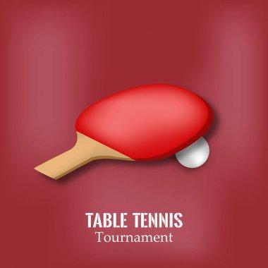 illustration of sport table tennis background
