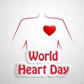 illusztráció: World Heart nap háttér