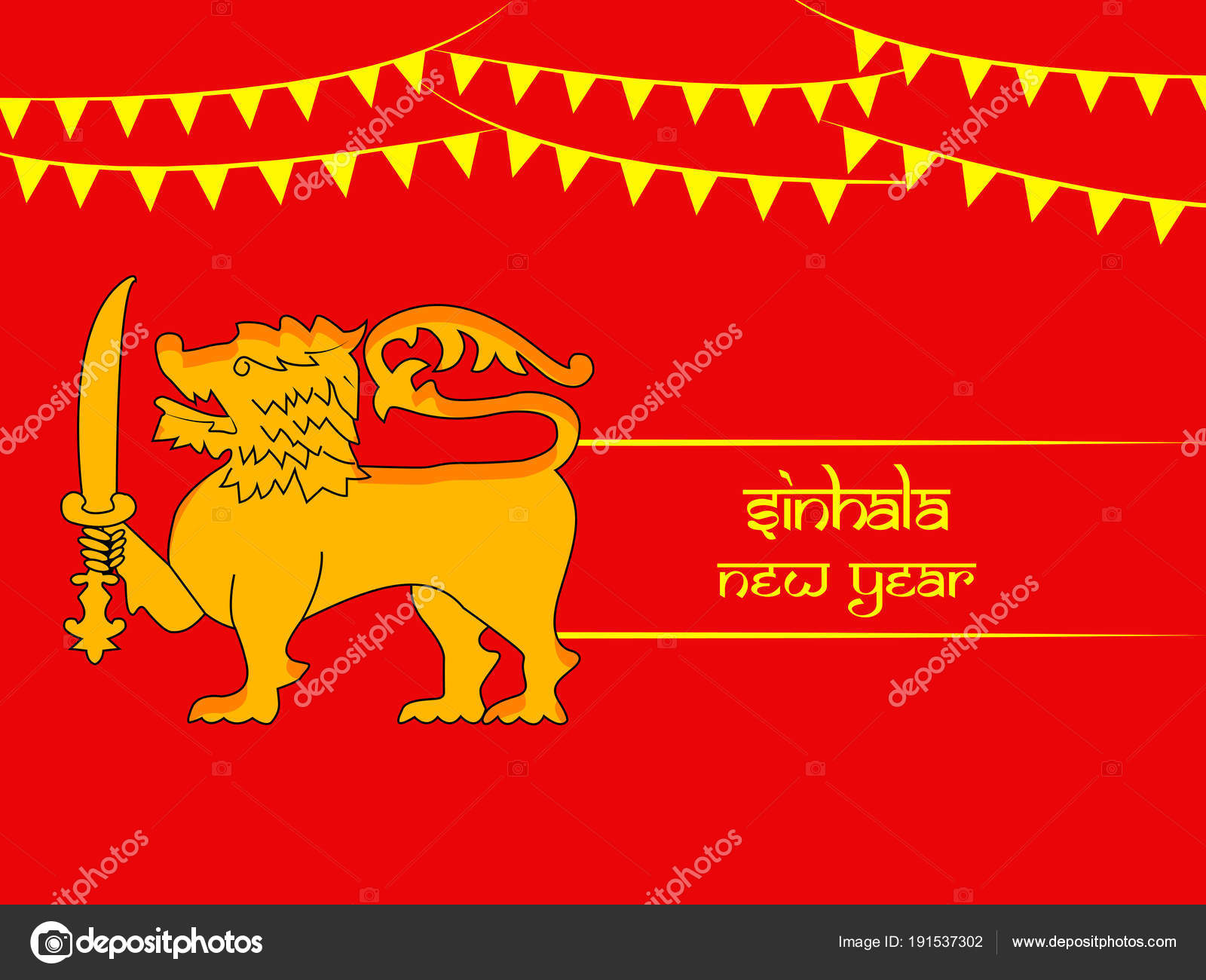 illustration sri lanka new year background stock vector