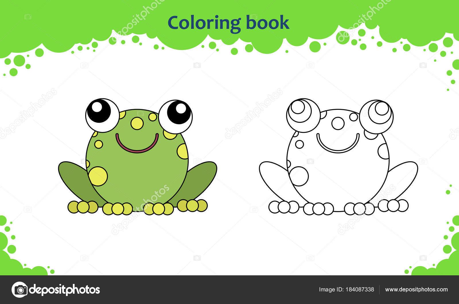 Buch-Malvorlagen für Kinder. Farbe der Cartoon kleine Kröte ...