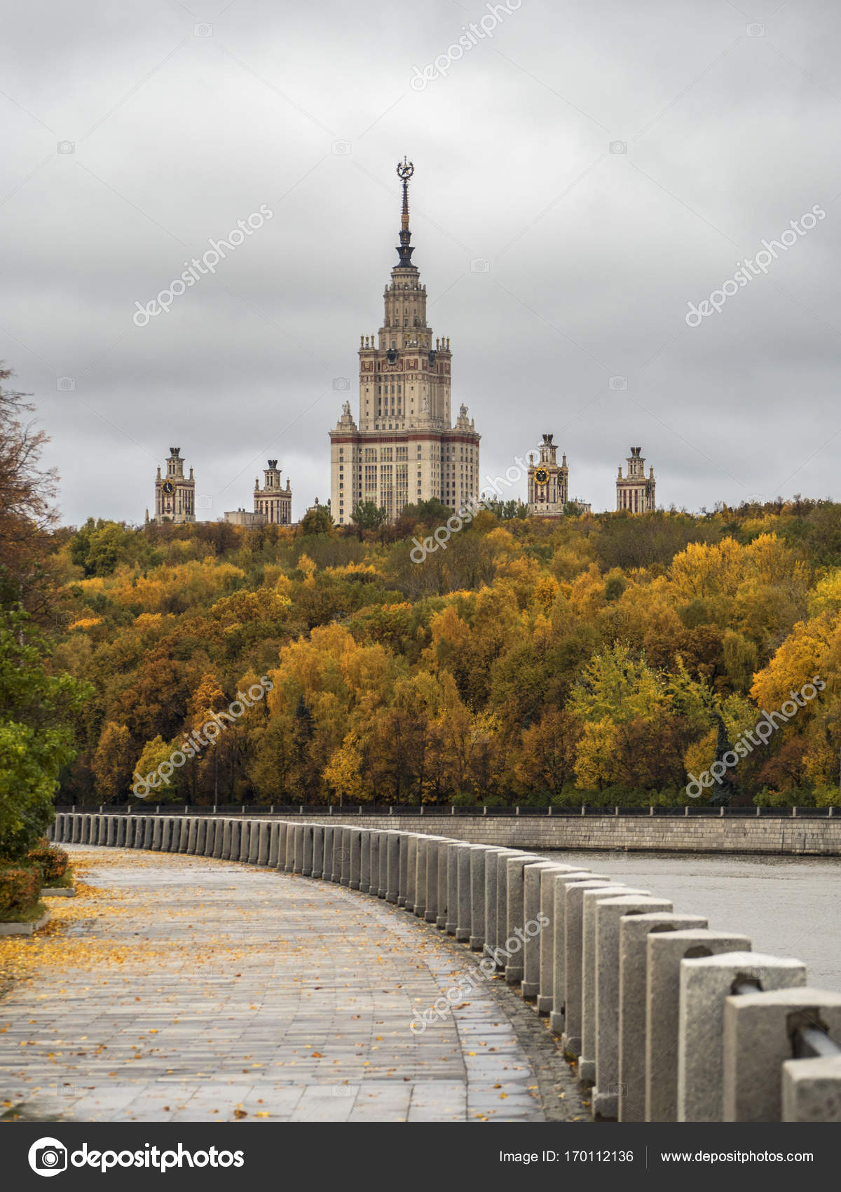 Golden State University >> The Building Of Moscow State University In The Background Of