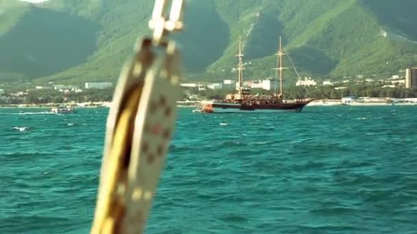 vitorlás és jacht részleteit a tengeren