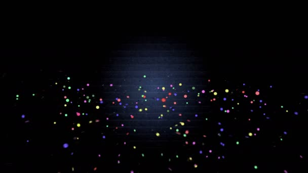 Boldog születésnapot - gyönyörű színes animáció egy sötét háttér