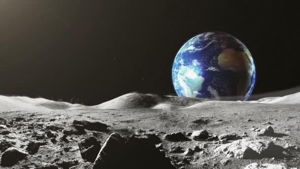Pohled na zemi z povrchu měsíce