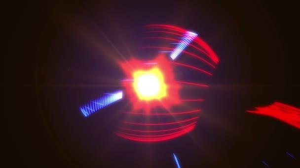 4 k abstraktní barevné světlo tahy