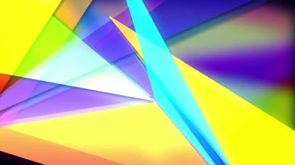 Smyčka v pozadí abstraktní barevné trojúhelníky