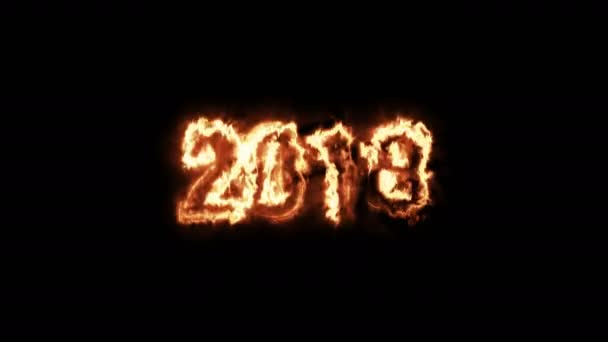 Animierte Neujahr 2018 - brennendes Feuer — Stockvideo © tiden ...