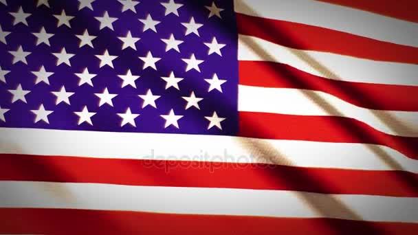 Amerikai zászló lassú integet.