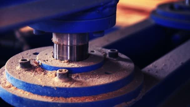 closeup of heavy machine - hydraulic press moving up
