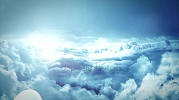 Vojenské predator drone Flying nad mraky