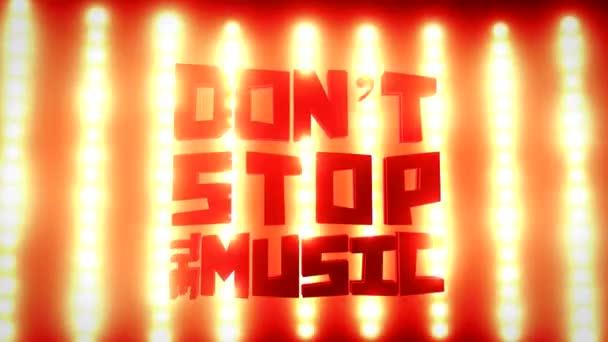 Nepřestávej znamení hudba na zdi světlé koncert světla