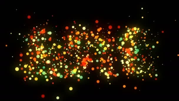 2018 číslice odhalit z barevné konfety na tmavém pozadí