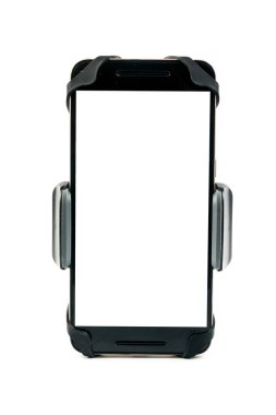 universal phone holder for car motorbike and bike with installed blank screen smartphone