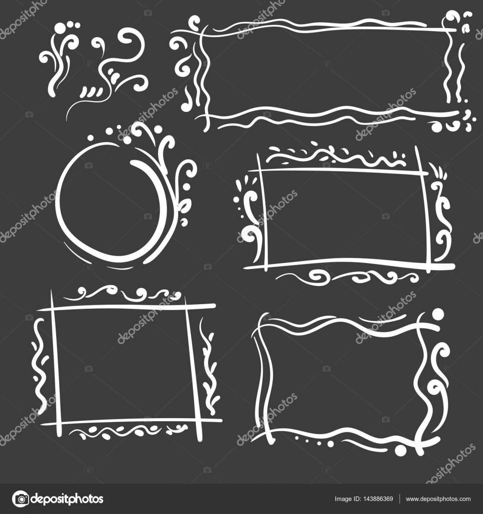 Conjunto de fotogramas dibujados a mano. Dibujos animados de ...
