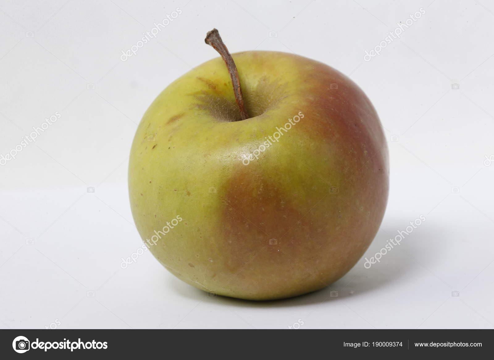 Apple Rosso Verde Sfondo Bianco Solita Mela Frutto Giardino Frutta