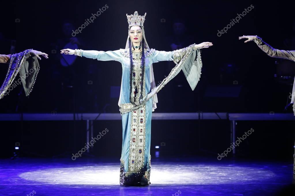 Belarus, the city of Gomel, 23.03.2017. Concert of Georgian National Ballet