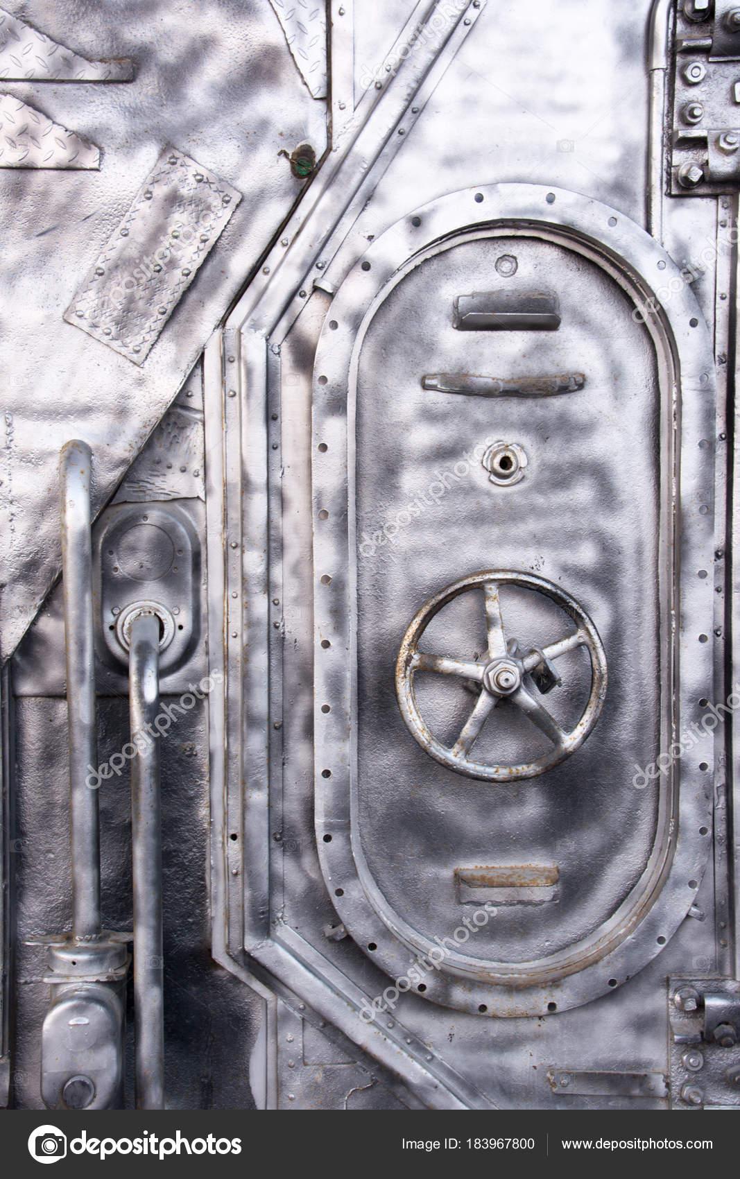 Steel Door Warship Locked Submarine Hatch Metal Door End Hallway \u2014 Stock Photo & Steel Door Warship Locked Submarine Hatch Metal Door End Hallway ...