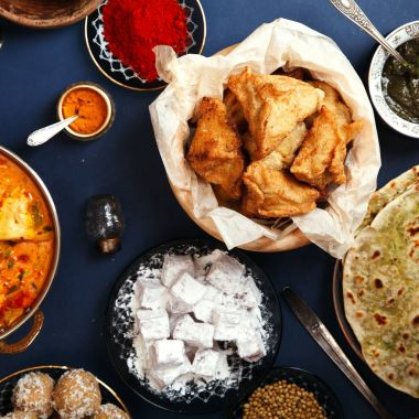 Indian cuisine on diwali holiday
