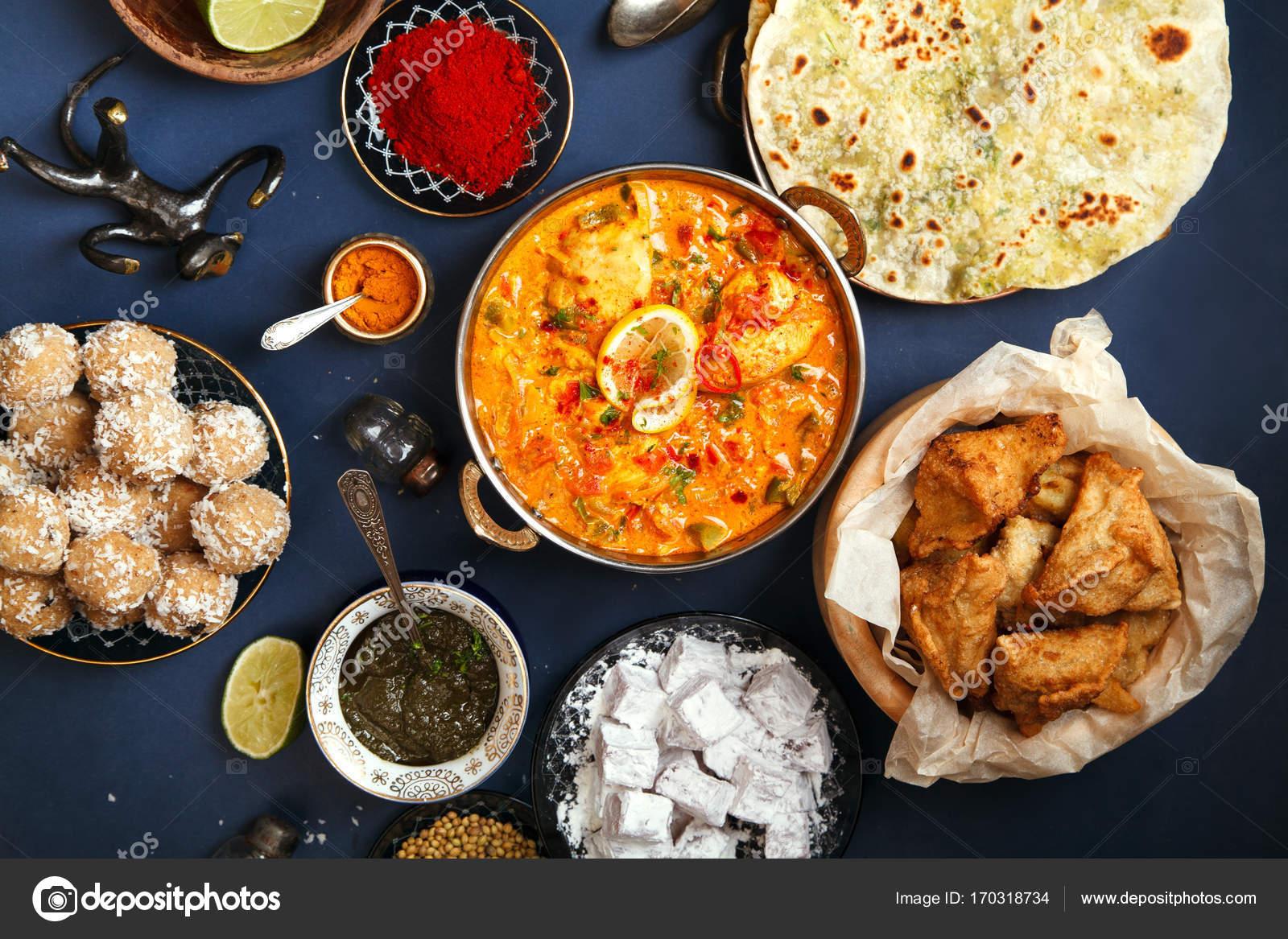 Kuchnia Indyjska święta Diwali Zdjęcie Stockowe Asinskki