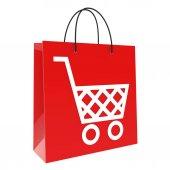 Shopping bag on white