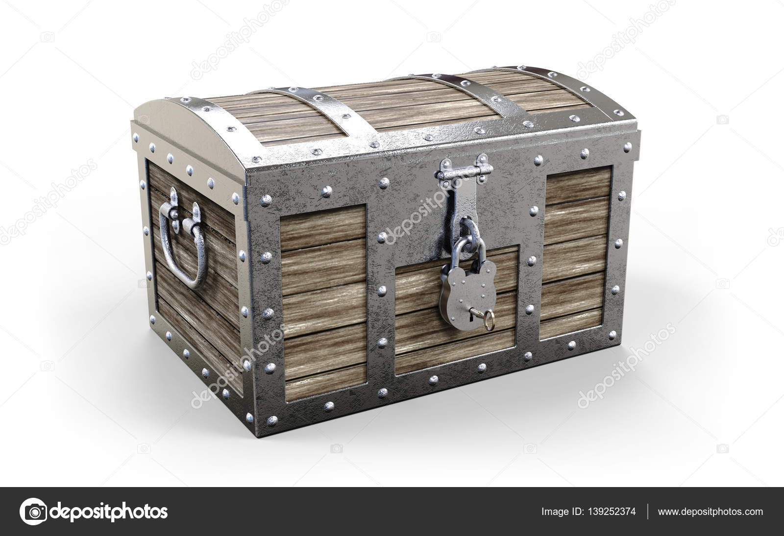 treasure chest on white stock photo tom19275 139252374