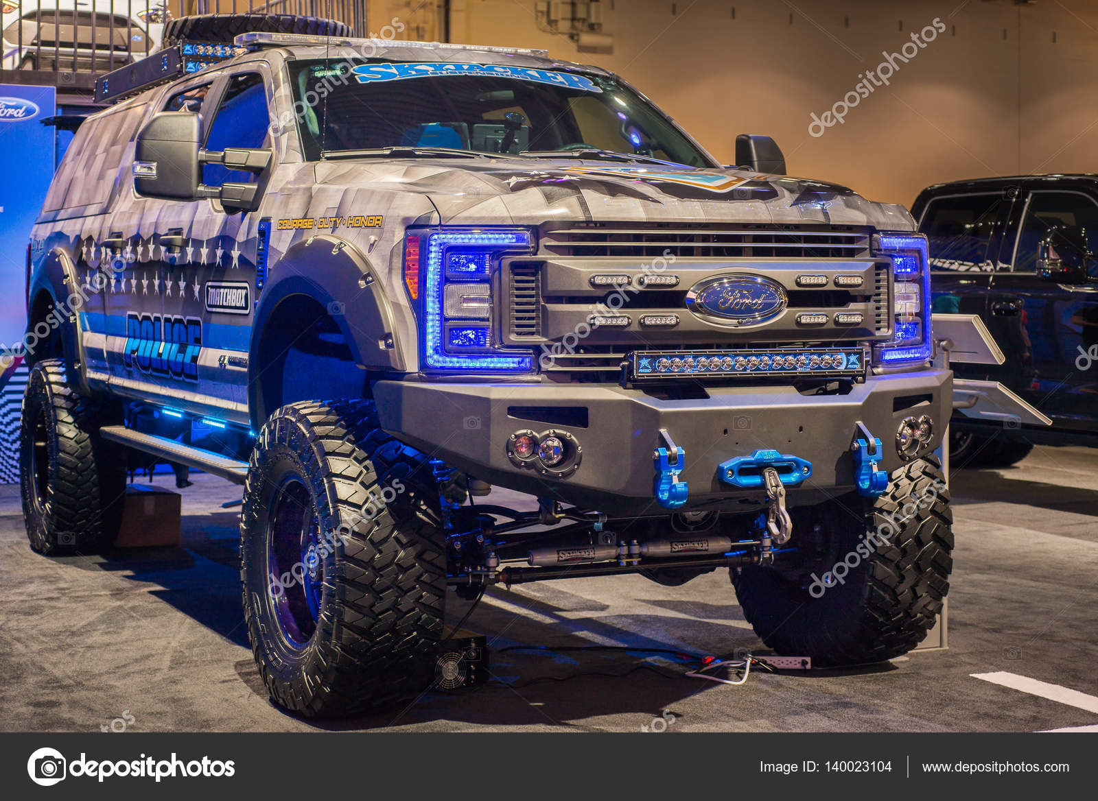 Matchbox Police Themed Truck 2017 Ford F 350 Super Duty