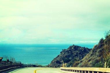 Pacific Coast Highway in vintage tone