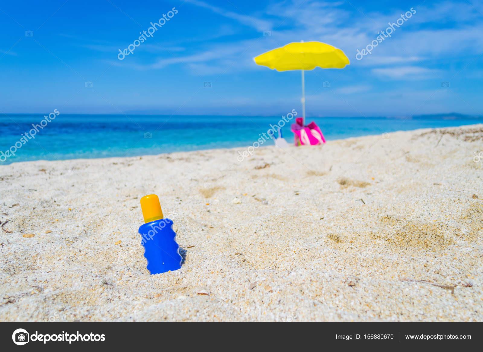 Sonnenschirm Sonnenschutz Lotion