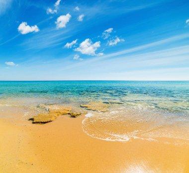 Golden shore in Costa Rei