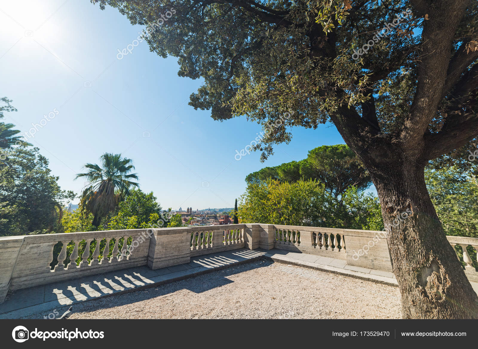 Terrazza del Pincio on a sunny day — Stock Photo © AlKan32 #173529470