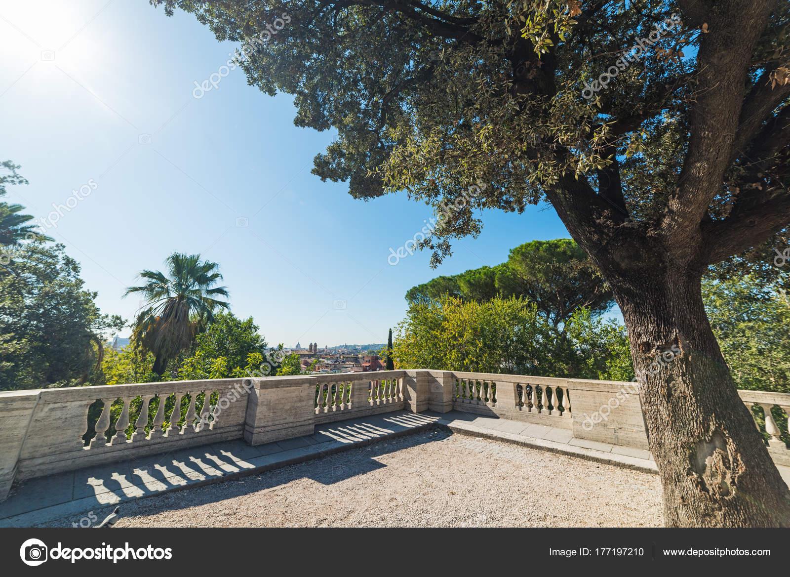 Terrazza del Pincio on a sunny day — Stock Photo © AlKan32 #177197210