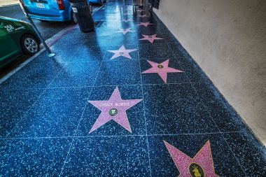 Walk of fame stars in Hollywood boulevard