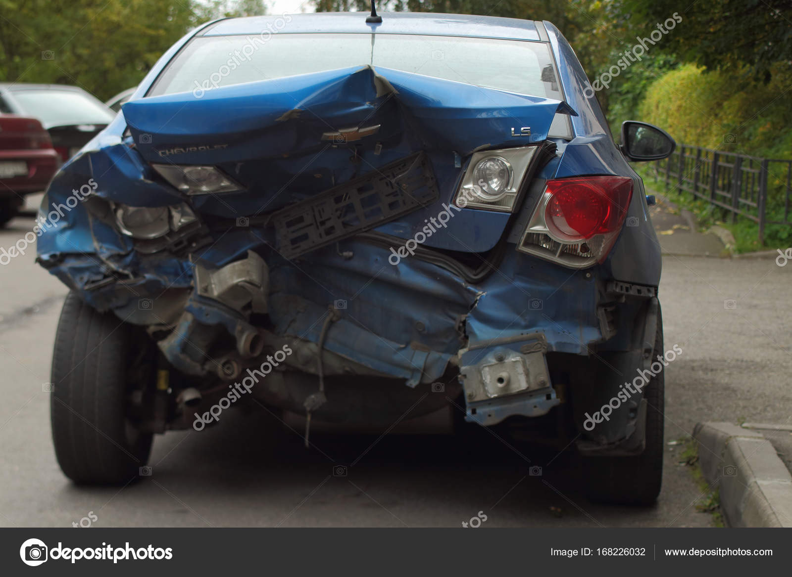 Unfall Notbremsung — Redaktionelles Stockfoto © mrivserg #168226032