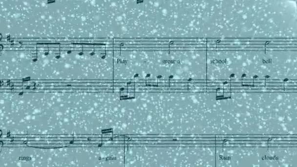 Sounds of music, piano score, sheet music background motion