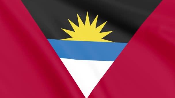Flag of Antigua and Barbuda , Seamless, Infinity Loop Animation, 4K 30Fps 16:9 Aspect Ratio