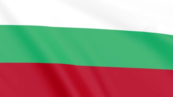 Flag of Bulgaria , Seamless, Infinity Loop Animation, 4K 30Fps 16:9 Aspect Ratio