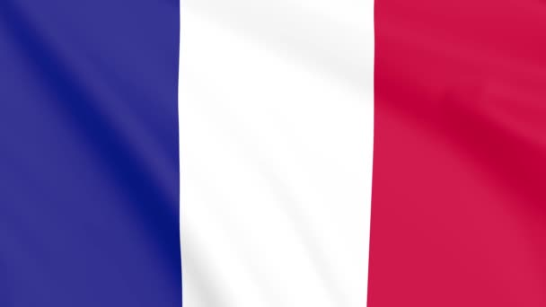 Flag of France , Seamless, Infinity Loop Animation, 4K 30Fps 16:9 Aspect Ratio